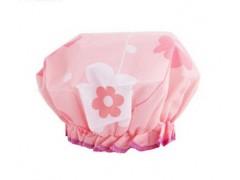 希艺欧花儿朵朵蕾丝花边沐浴帽防水纯色成人浴帽