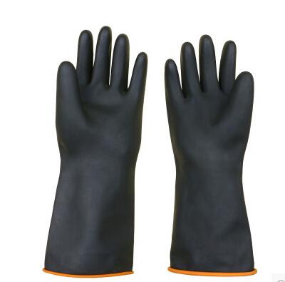 正品北塔36CM手套 加厚工业橡胶手套加长耐酸碱手套防护手套