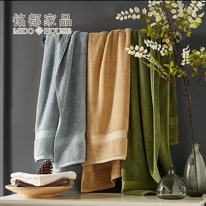 美式经典 纯棉浴巾 成人加大加厚 男士酒店纯色大浴巾