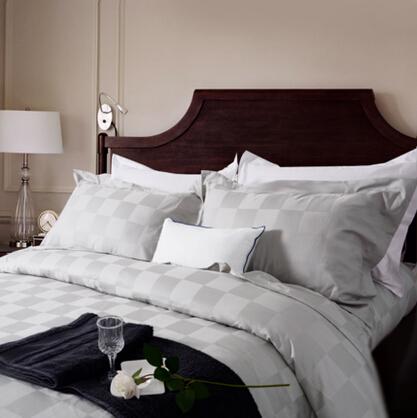MURCIA五星级酒店床上用品四件套纯棉床品全棉贡缎简约被套床单
