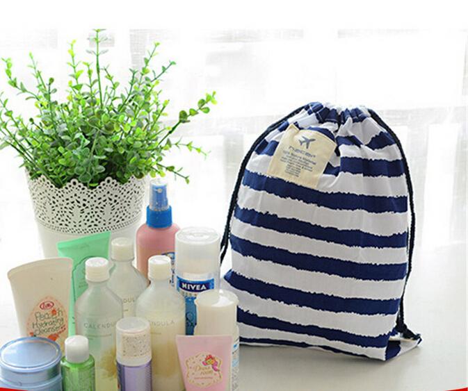 便捷户外运动抽绳束口袋旅行衣物鞋收纳袋内衣化妆品整理袋洗簌包