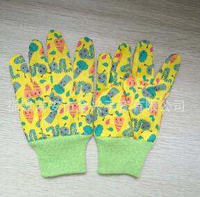 儿童印花花园手套 防护防切割防滑手套