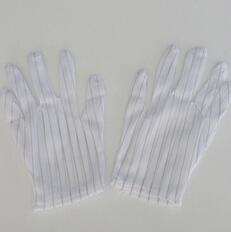 防静电手套双面条纹防静电点塑无尘手套PU手套