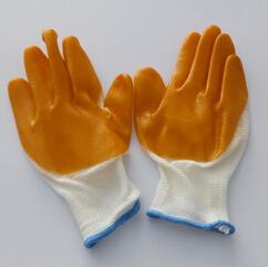 棉纱衬里手套涂胶耐热贴胶胶片玻璃胶防护线胶手套