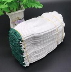 白色纯棉棉纱防护手套加厚加密加大耐磨透气防滑保暖劳保线手套