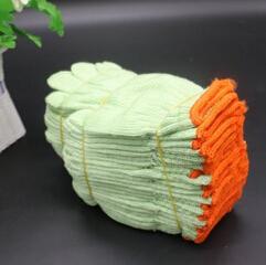 绿毛线尼龙手套绿色加厚加大结实超耐磨耐用透气防护劳保手套