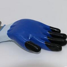13针白纱尼龙浸丁晴劳保手套平挂手套乳胶涂层光面