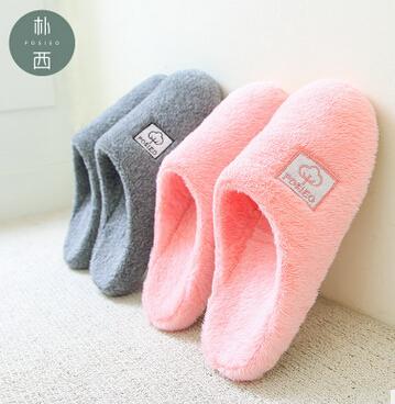 朴西 秋冬新款包头毛拖鞋 冬季保暖棉拖鞋女室内冬男士室内家居鞋