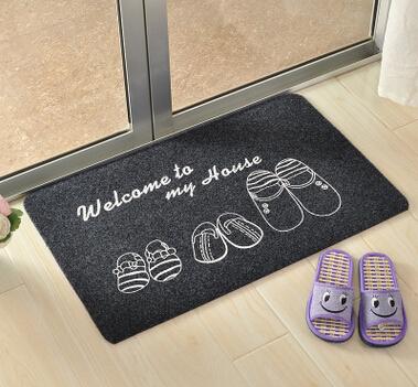 刺绣印花地垫门垫大门口防滑蹭土地毯进门垫子玄关入户门厅蹭脚垫