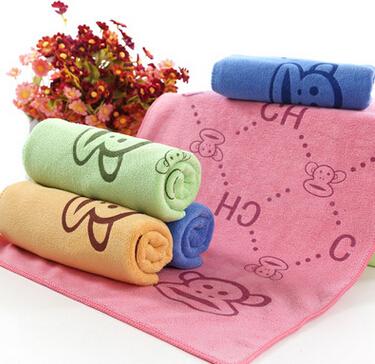 超细纤维35x75干发毛巾吸水高阳毛巾加厚大嘴猴日用