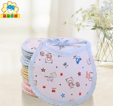 婴儿用品纯棉围嘴 3层夹棉大号围兜 宝宝全棉口水巾18*13