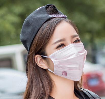 一次性卡通口罩纯色医用级防尘防护三层无纺布加厚骑行口罩