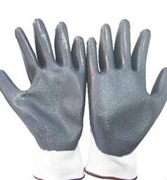 园艺搬运尼龙防护手套 耐酸碱防滑劳保手套