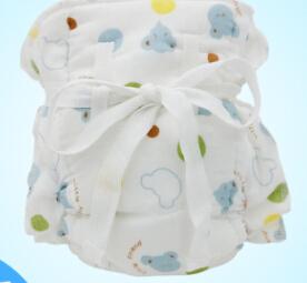 三层婴儿竹纤维纱布布尿裤 吸水透气尿裤 宝宝可洗尿裤
