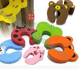 (超级可爱)动物造型儿童卡通安全门卡/门夹 7色入