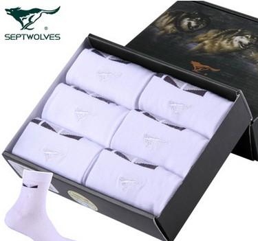 6双礼盒匹狼休闲男士袜子