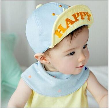 婴儿帽子 翻边鸭舌帽皇冠纯棉休闲帽棒球帽