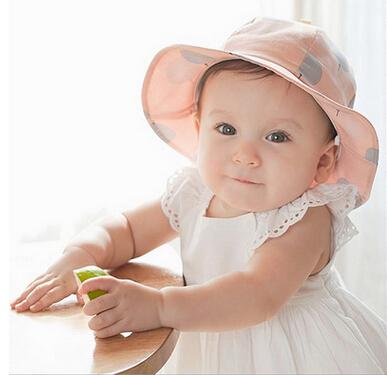 春秋款韩版儿童纯棉盆帽 公主女宝宝气球布帽