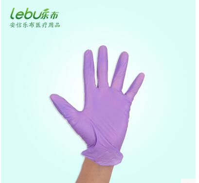 PVC紫色加厚一次性手套餐饮食品批发美容医疗手套耐酸碱