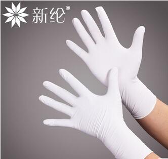 10寸丁腈劳保防护耐酸碱丁腈手套清洁洗碗食品美容美发防水手套