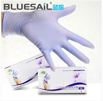 蓝帆 一次性手套PVC美容美发宠物护理美甲劳保家务护肤工业胶春夏