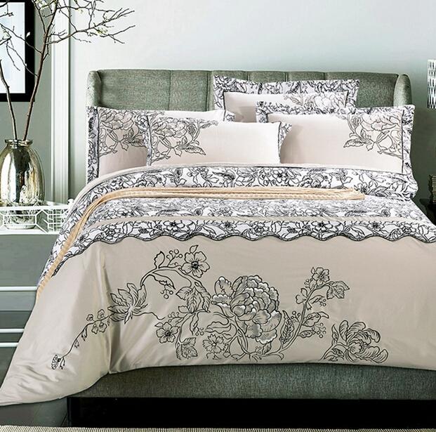 全棉纯棉中式中国风古典民族四件套刺绣床单五星级酒店床上用品