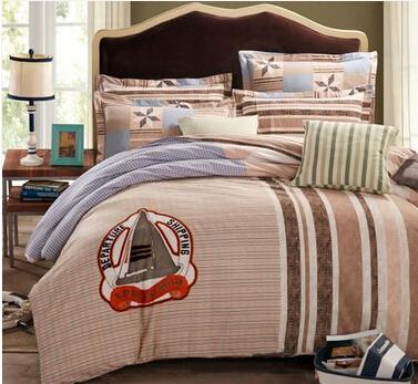 樱花草 磨毛四件套纯棉床上用品1.8m四件套全棉加厚卡通被套简约