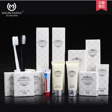 酒店宾馆客房一次性洗漱用品11件套装居家待客六合一牙刷牙膏套装