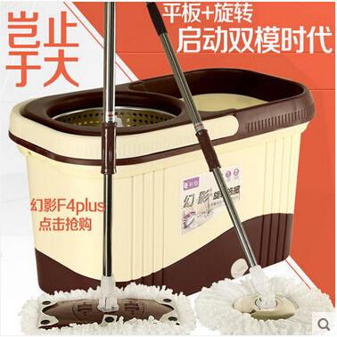 平板拖把桶旋转拖把杆双驱动自动好神拖地拖桶拖布墩布桶旋转