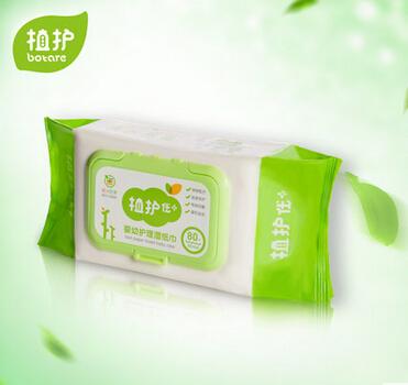 植护 婴儿手口湿巾纸包邮 宝宝BB柔湿巾新生儿湿纸巾80抽 带盖