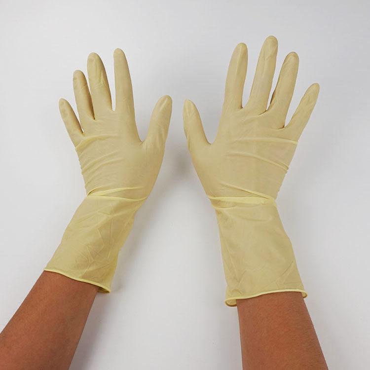 深圳厂家批发9寸乳胶手套 光面麻面乳胶手套一次性劳保乳胶手套