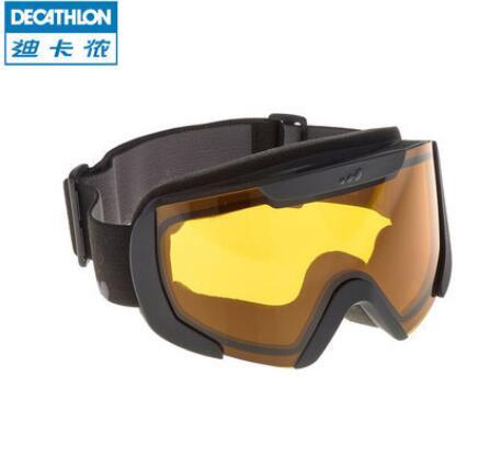 迪卡侬 成人滑雪眼镜男女滑雪/防风透气/柱面镜片 滑雪镜