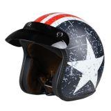 头盔DOT复古头盔哈雷头盔美国队长头盔安全帽
