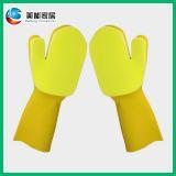 热销推荐单层黄色清洁手套 专利清洁乳胶手套 支持OEM定制