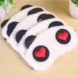 E9001日韩外贸原单 柔软珍珠绒遮光睡眠眼罩 可爱熊猫眼罩