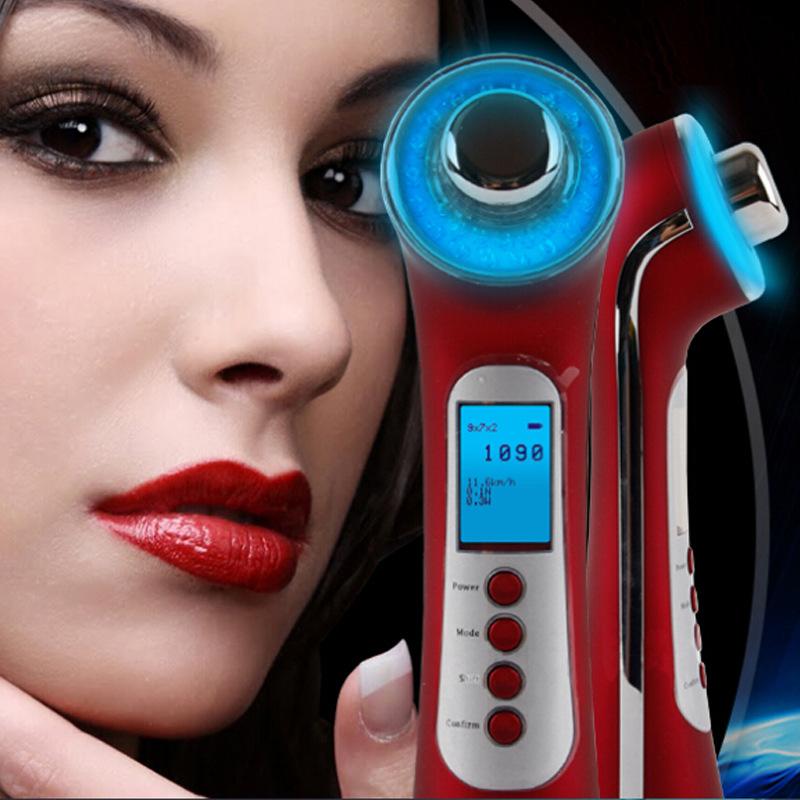 至美优品家用美容仪器彩光超声波导入 离子震动美容 光子嫩肤仪
