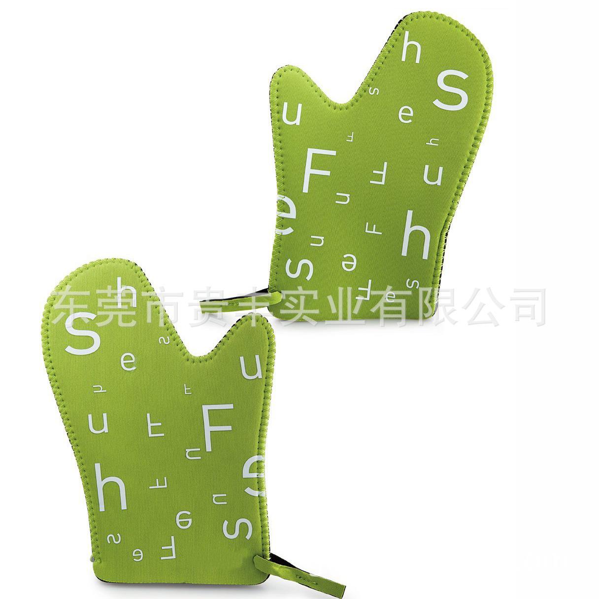 外贸大厂 潜水料手套 微波炉隔热手套 防滑防烫手套