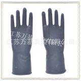 50g黑色工业用耐酸碱乳胶防护手套 劳保乳胶手套厂家批发直销