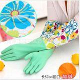 保暖PU手套批发 长袖加绒家务手套 洗碗洗衣手套厨房做菜手套
