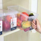 冰箱保鲜盒食品水果 蔬菜可叠加冷冻塑料手柄式带盖收纳盒批发