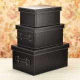 PU皮质收纳箱皮革大号玩具整理箱储物箱衣柜收纳盒汽车样板房间