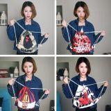 韩版时尚休闲运动篮球足球居家收纳储物袋双肩束口抽绳包背包
