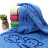 批发卡通儿童柔软吸水浴巾 厂家直销超细纤维日用不掉毛浴巾