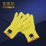 防切割耐高温阻燃黄手套芳纶防割手套