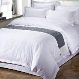 酒店布草宾馆客栈床上用品 提花四件套批发 白色纯棉床单被套