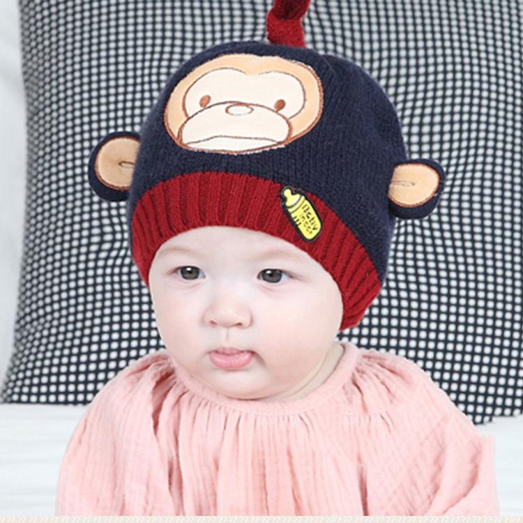 厂家供应婴儿针织帽子秋冬宝宝帽子 保暖套头帽 针织套头儿童帽
