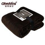 380G纯色法兰绒毛毯绒毯厂家法莱绒毯子宝宝盖毯可印LOGO