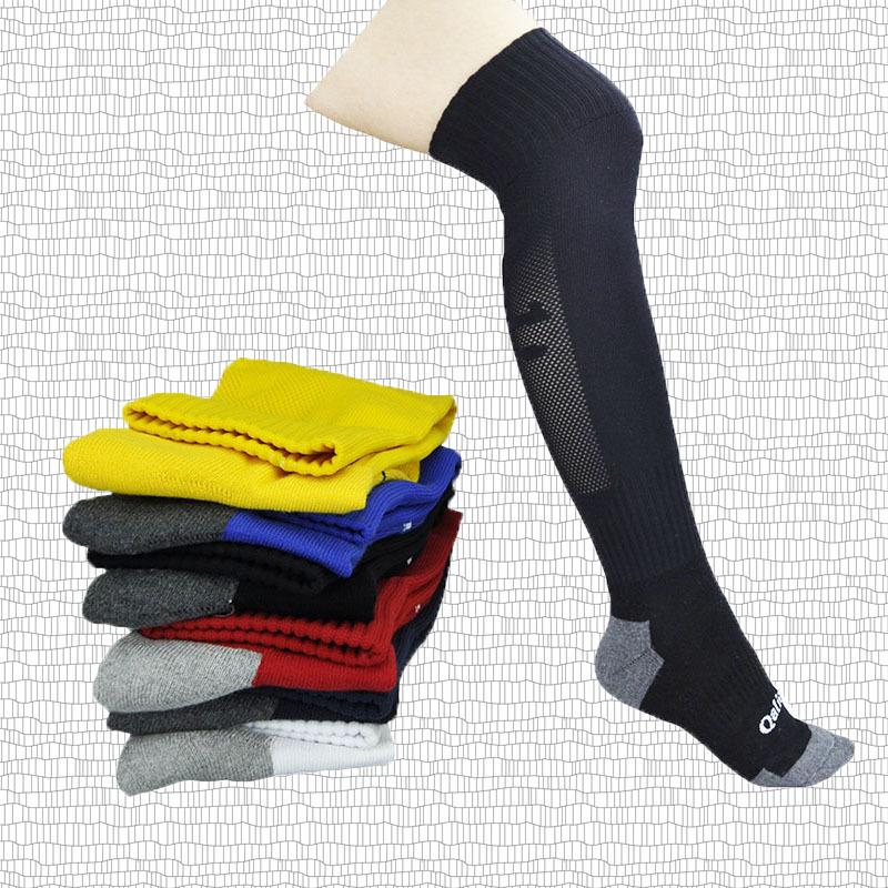 过膝加厚毛巾底专业足球袜长筒全棉加厚毛巾底保暖袜qalien