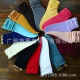 天鹅绒堆堆袜 袜套 秋冬季新款 糖果色韩系 中筒卷边百搭薄款