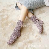 堆堆袜 女袜 纯棉雪花 日系校园风 秋冬爆款 粗线条纹 新款